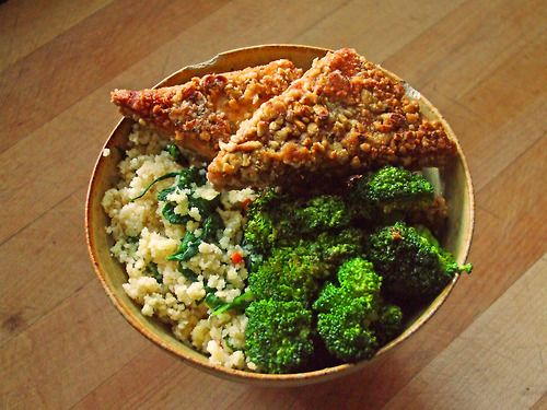 whole wheat couscous with garlic, onion, carrot, and spinach ...