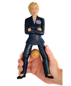 @Overstock - Laughs will abound with this novelty Hillary Clinton nutcracker  The Hillary Clinton nutcracker will crack smiles and nuts with stainless steel teeth secured in the upper legs  Collectible that will be remembered for years to comehttp://www.overstock.com/Home-Garden/Hillary-Clinton-Nutcracker/2568425/product.html?CID=214117 $18.43
