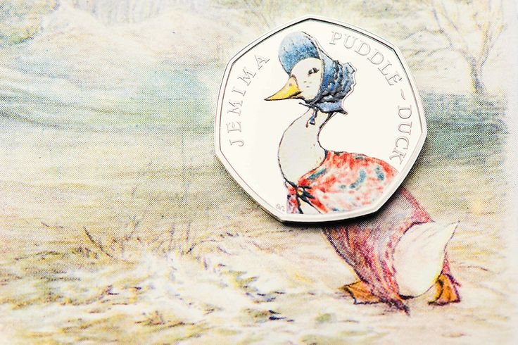 Jemima Puddle-Duck coin - from the Royal Mint, UK