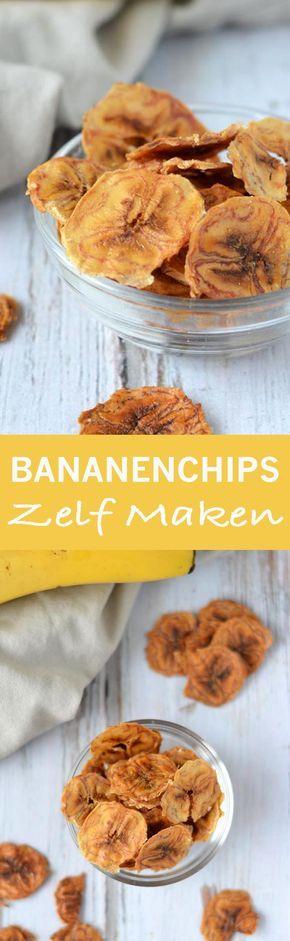 Bananenchips Maken (Airfryer of Oven)