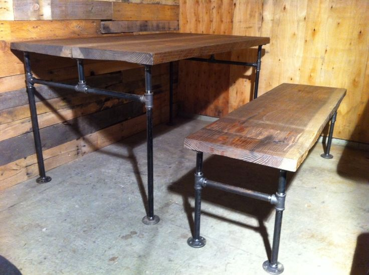 Industrial Cast Iron Pipe Bench Furniture Pinterest