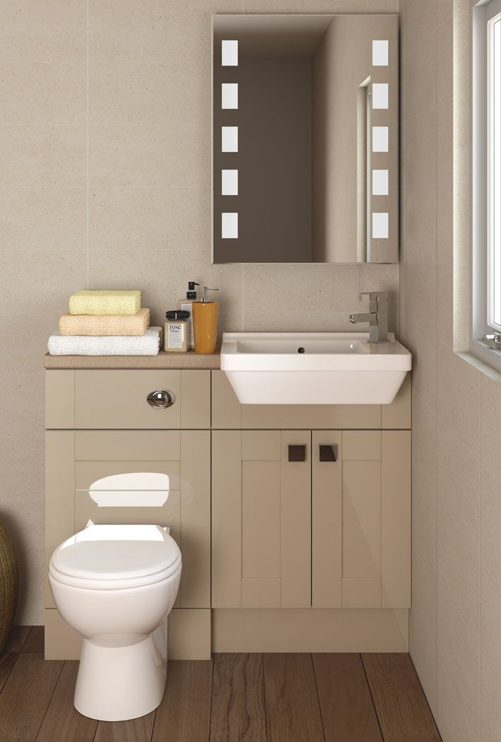 Create a soft contrast against white pottery with the highly popular Scarlet.  The compact look provides a functional and desirable bathroom in the smallest of spaces.