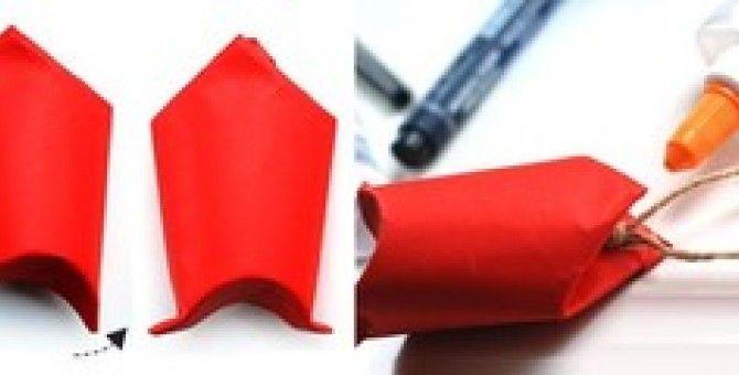 Santa Claus makes a simple paper (part 1 of 5)