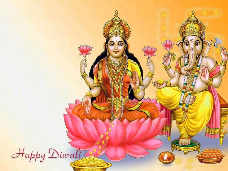 Lakshmi Mata And Ganesh Happy Diwali Wallpapers