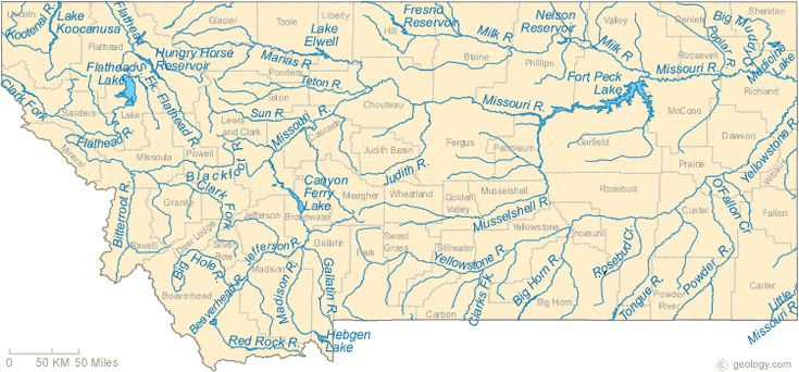 Montana Lakes And Rivers Map Art Pinterest Montana Lakes - Rivers of montana map