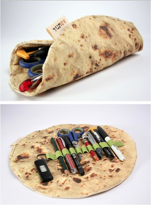 SO WRONG!!!   A delicious-looking pita bread pencil case by Mohar Design - Imgur