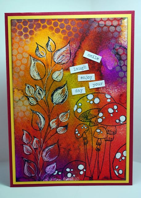 Eileen's Crafty Zone: Dylusions Stamps and Inks .... Fabulous - direct link to post