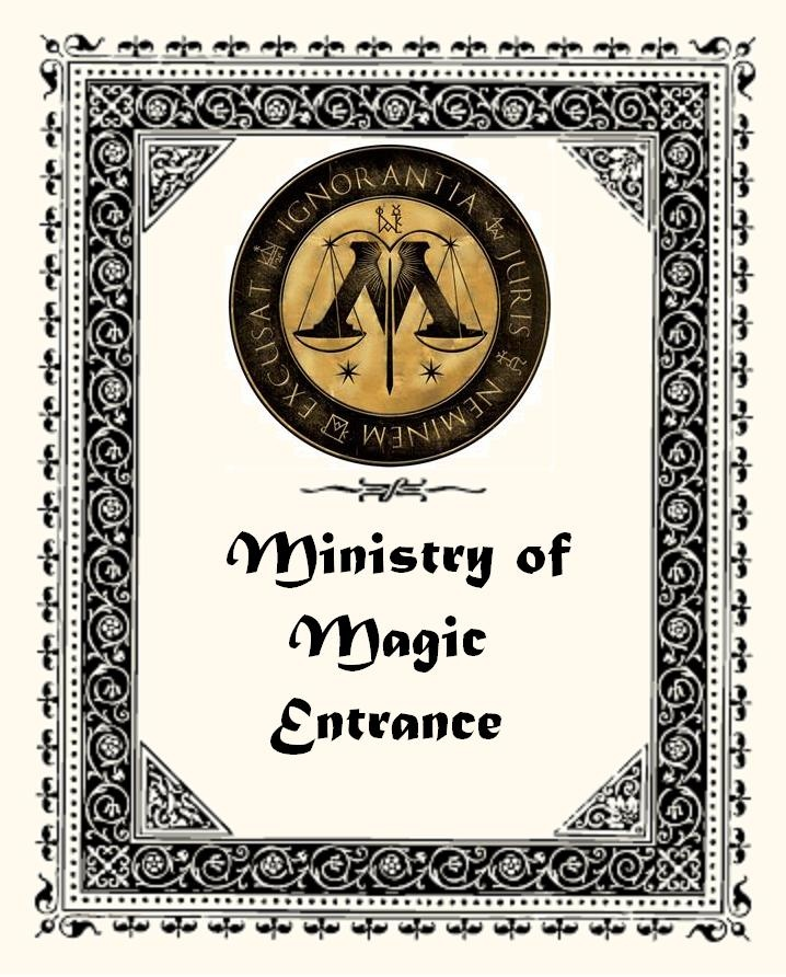 Harry Potter Party Ministry Of Magic Sign I Created For