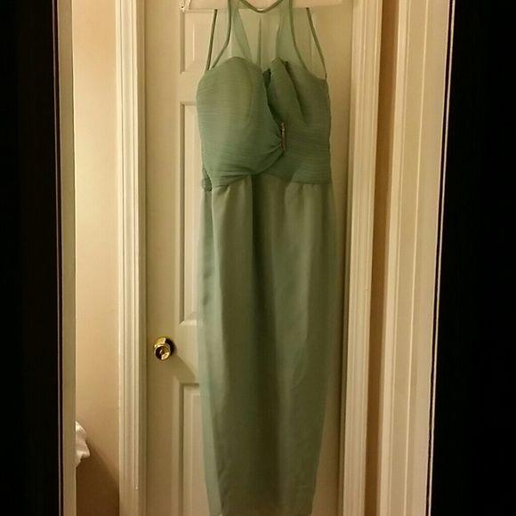 Formal Gown Light green long Dresses