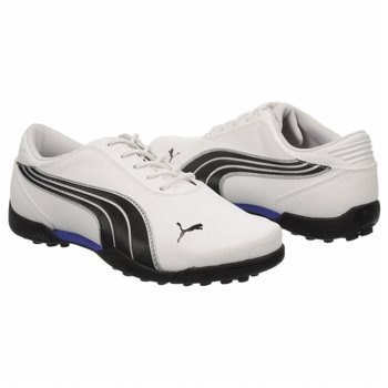 Puma Golf Super Cell Fusion Ice Gr Shoes (Wht/Blk/Puma Silver) - Kids' Shoes - 6.0 M