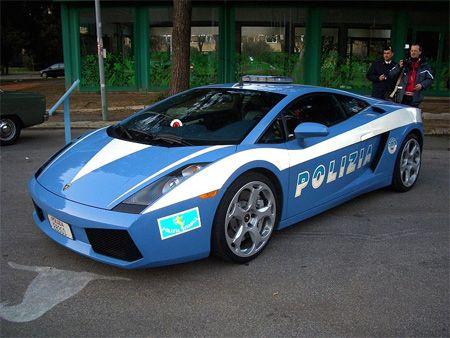 Lamborghini Police Car In December 2004, two Lamborghini Gallardos were donated to the Italian police in honour of the force's 152nd anniversary.