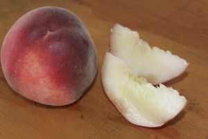Mary's Xmas, stunning white fleshed peaches ripe for Xmas
