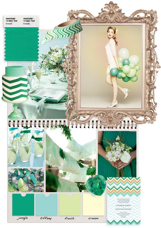 'i do' it yourself: pantones pick for 2013 : emerald