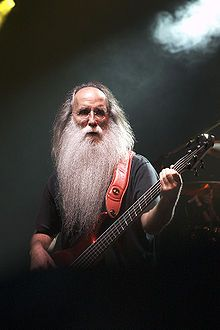 Leland Sklar, bass player in more than 2,000 sessions and touring bands, August 2007.  Sklar had a 20-year association with Jackson Browne.  He's had the beard (I know you were wondering) since 1965.