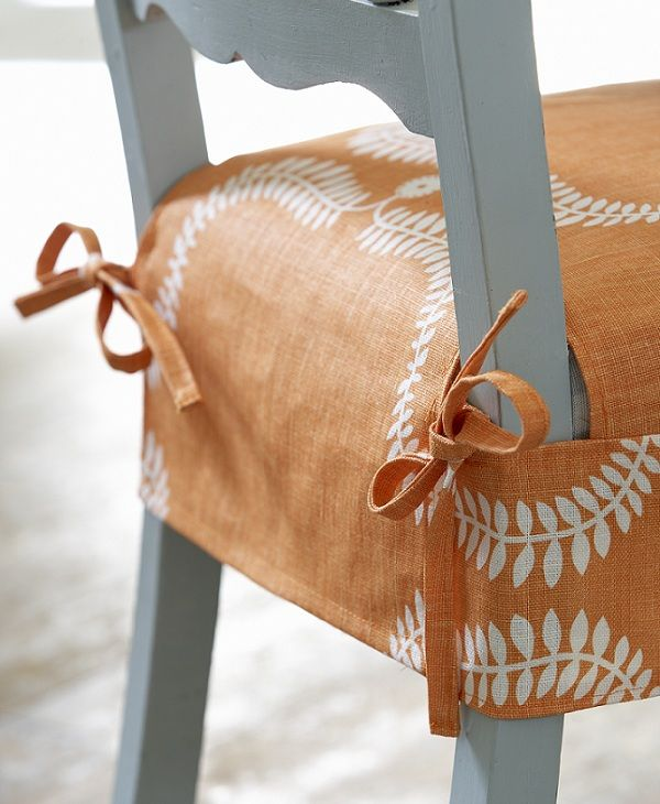 Up The Garden Path In Pumpkin   Chair Cover