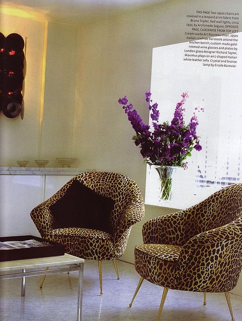 Please come in and sit in my leopard chairs and tell me your problems haha! (not my line but it works!)
