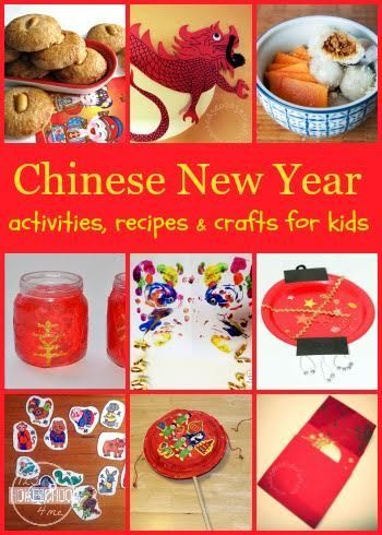 Chinese New Year - crafts for kids, kids activities, and recipes to help toddler, preschool, kindergarten, and elementary age kids celebrate Chinese New Year in January - LOTS OF GREAT IDEAS!