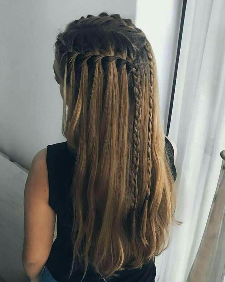 Pin By Jaqueline Almazan On Hair Style Pics Braided Hairstyles Waterfall Braid Hairstyle Hairstyle