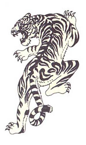 Japanese Tattoo flash tiger