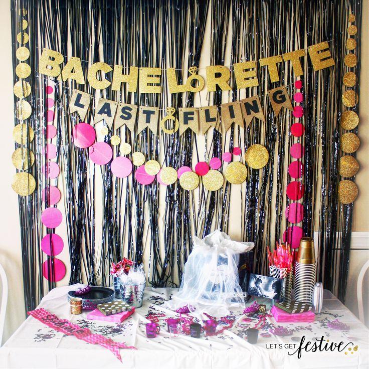 Bachelorette Party Decor Letsgetfestive Wedding Event Eventplanner Weddingdecor