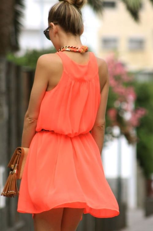want this dress: Summer Dresses, Orange Dresses, Summer Style, Summer Colour, Spring Summ, Perfect Dresses, Girls Fashion, Everyday Dresses, Summer Colors