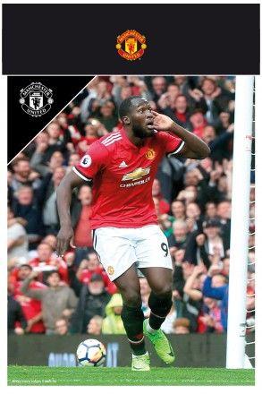 Manchester United Lukaku 17/18 Bagged Photographic Print