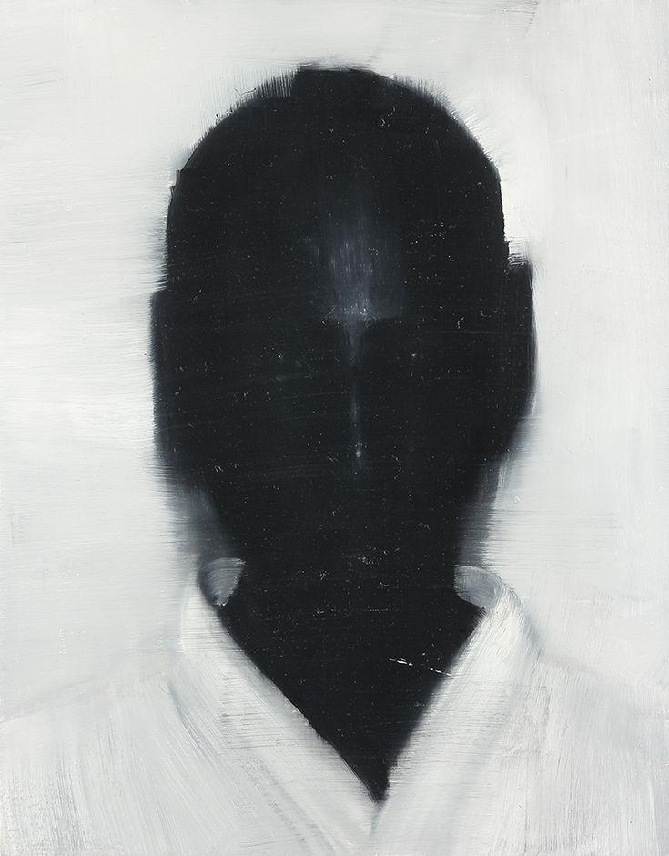 Brett Amory washed black face portrait