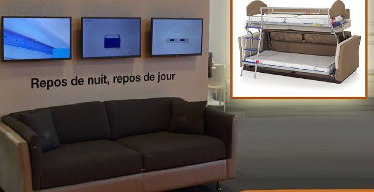 17 meilleures id es propos de lits superpos s canap sur pinterest lit de - Cacher un lit dans un salon ...