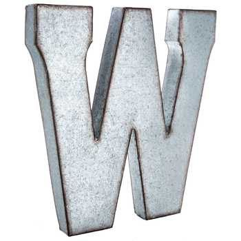 Galvanized Metal Letters Large 20 inch letter by LetteredWhimsy