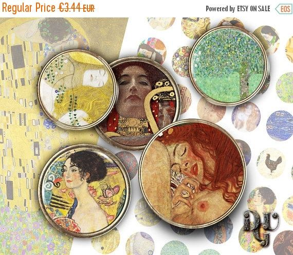 35% OFF SALE KLIMT Digital Collage Sheets  by DreamUpGraphic