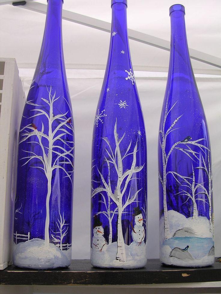 "I LOVE THESE!   Painted Wine Bottles   www.LiquorList.com ""The Marketplace for Adults with Taste!"" @LiquorListcom #LiquorList"