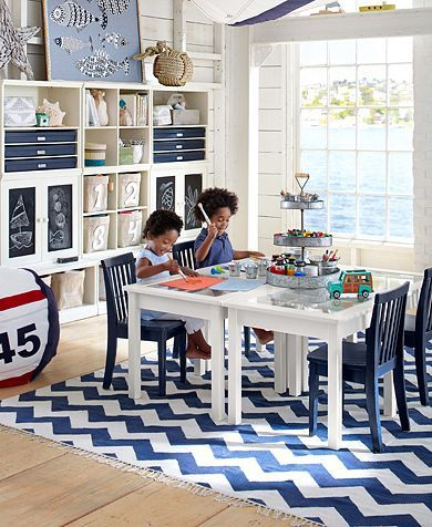 Fun Playroom Design for Toddler and Kids: Pottery Barn Kids Playroom Ideas