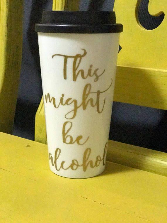 Double wall coffee travel mug // plastic coffee mug // travel