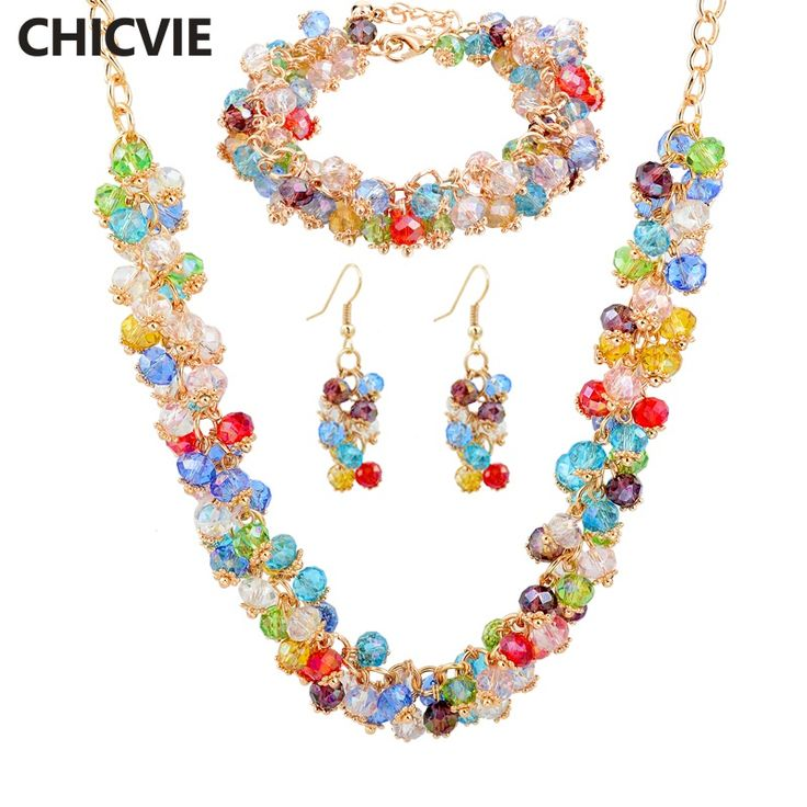 Crystal Jewelry Sets Nigerian Wedding African Beads Earring Bridal Imitation diamond Bracelets Gold Necklaces For Women 2016