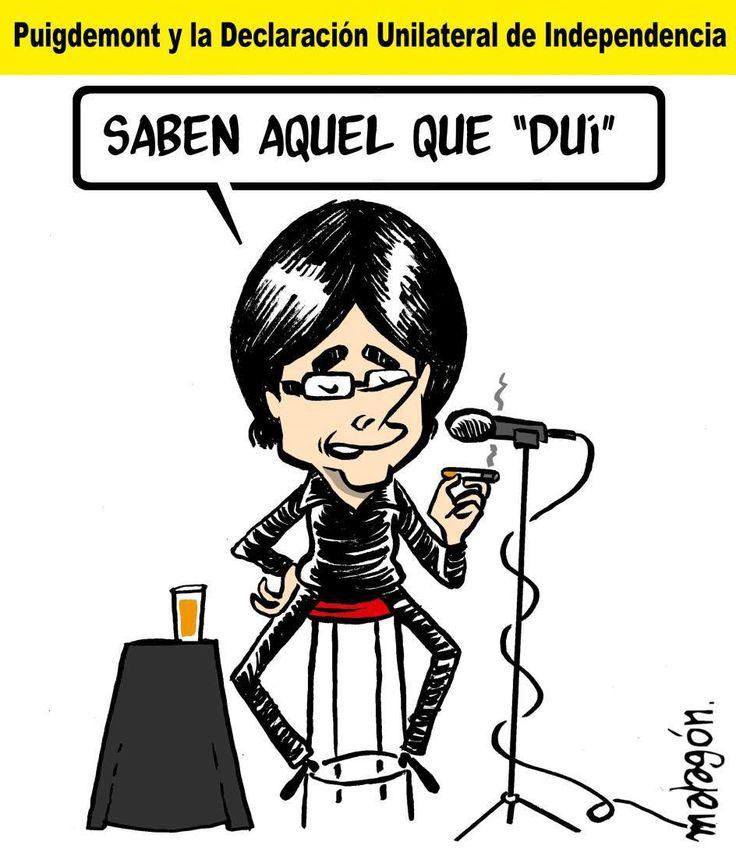 Malagón: Puigdemont y el DUI Malagón en 20 Minutos 06/10/2017Archivado en: España Humor
