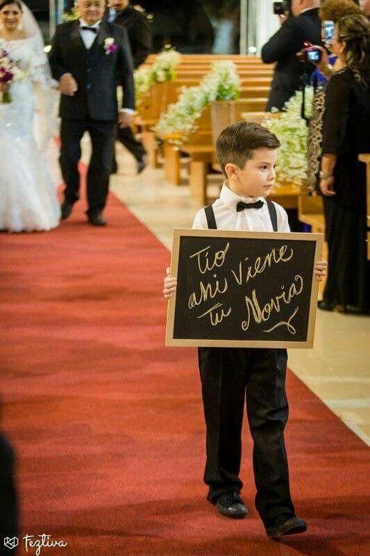 Letrero para la entrada de la Novia en la Iglesia ⛪