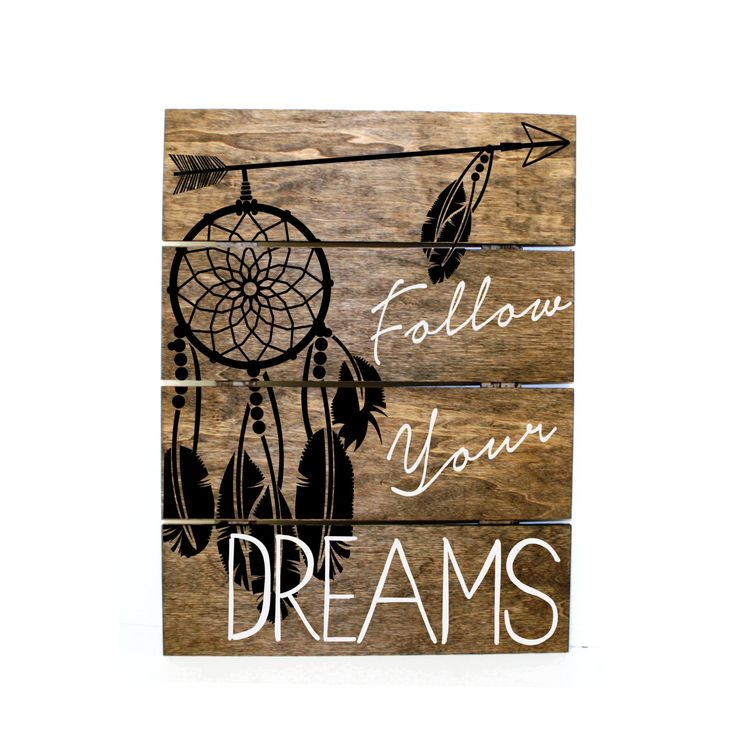 arrow dream catcher follow your dreams pallet sign indie home decor gifts for her reclaimed pallet aztec bedroom decor wood sign