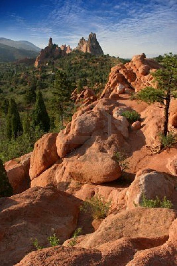 """Garden of the Gods"" Colorado Springs, CO ~~~~ Absolutely magnificent place to go horseback riding, which our family did!!"