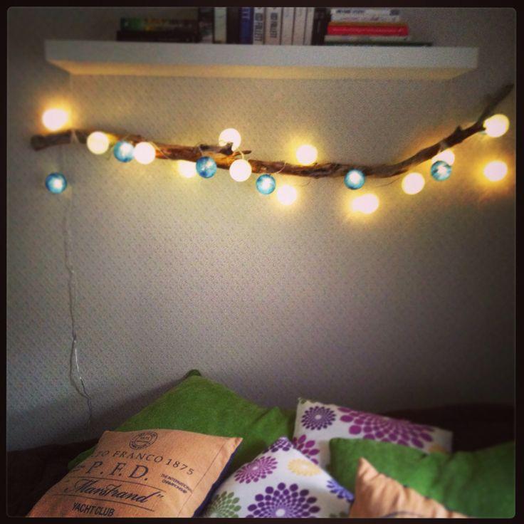 Cottonlight på pinne - selvlaget nattlys