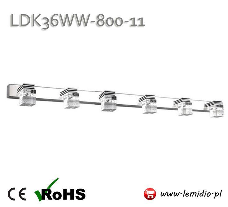 Kinkiet lampa LED nad lustro / łazienkowy LDK36WW-800-11
