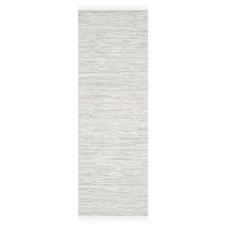 Welcome the feel of comfort and style with the Safavieh Chasen Flatweave Rug. This modern rug has a woven design. These rugs are hand woven in cotton material. The low pile is best to vacuum regularly and a rug pad is recommended.