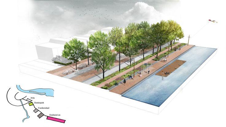 Buro Sant en Co landschapsarchitectuur - winnaar ontwerp-tender Oost-west-as Diemen