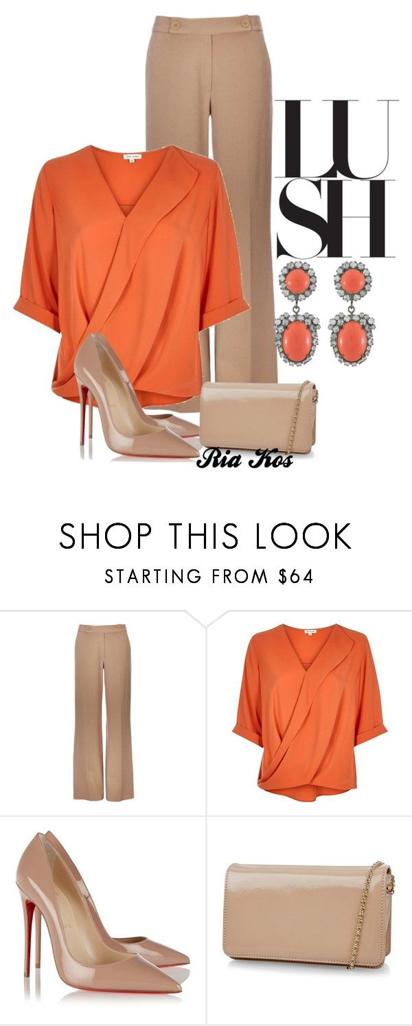 """chic"" by ria-kos ❤ liked on Polyvore featuring Wallis, River Island, Christian Louboutin, Hobbs and Kenneth Jay Lane"