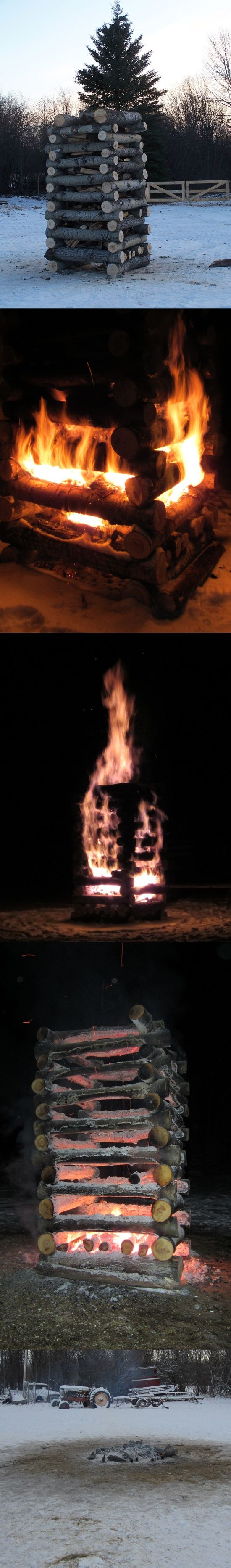 How To Make A Huge Bonfire » The Homestead Survival
