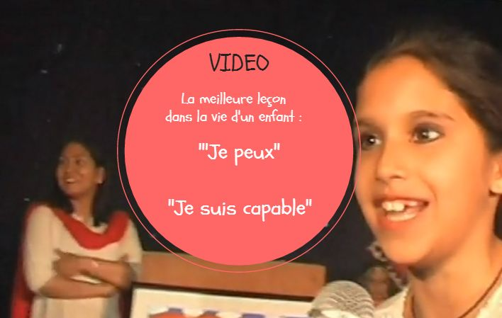 """La meilleure leçon dans la vie d'un enfant : """"'Je peux"""", """"Je suis capable""""."""