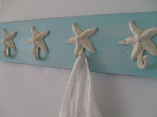 DIY Beach Decor   DIY Beach Decor   starfish hooks. 17 Best ideas about Seashell Bathroom Decor on Pinterest   Sea