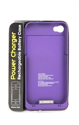 Deb Shops Rechargeable Battery #iPhone 4 and 4S Case  $22.90