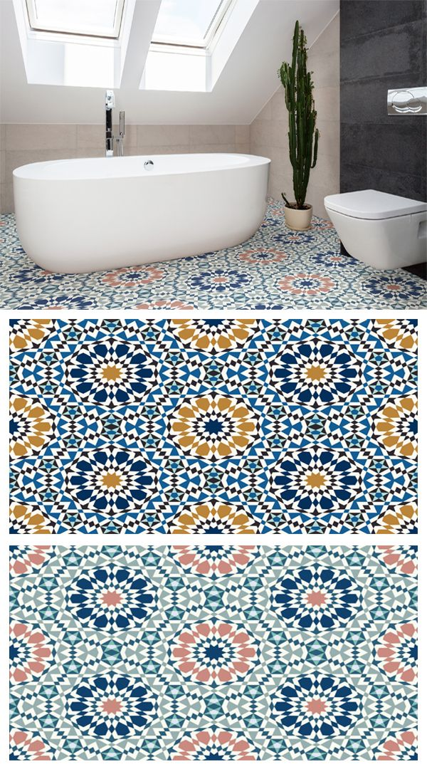 En Suite With Moroccan Floor Tiles And Blue Panelling Apartment Renovation Small Bathroom Bathroom Renovations