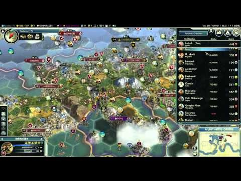 Let's Play Civilization 5 (Huge Earth Gameplay) - Part 42