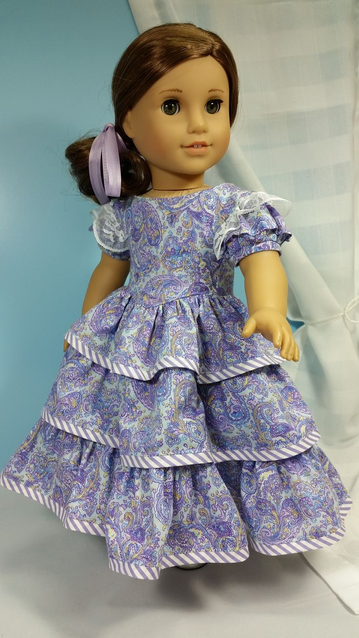 Prominade - pattern by Dollhouse Designs - sewed by Shirley Fomby - Doll Clothes by Shirley